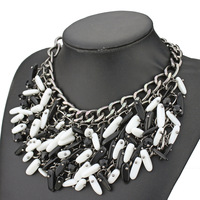 bohemia style multilayer women natural stones tassels drop necklace 2014 hot selling fashion design for women