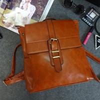 2014 New Casual Women Girl School Backpack Vintage Backpack Laptop Bag School Backpacks Travel Bags Wax Leather BG118