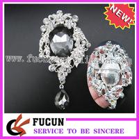 Sparkling  vintage diamond brooch elegant black color for sale,Free Shipping