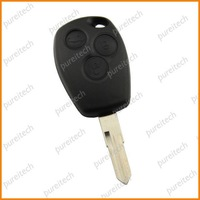 free shipping renaul logan clio espace remote key blanks 3 buttons with battery clip no logo key fobs wholesale