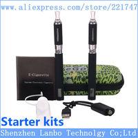eGo LCD mt3 Double kit in one case Electronic Cigarette Zipper Starter Kits 650mah 900mah 1100mah Power LCD Display Kit