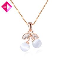 D&Z Natural fruit rose gold necklace Fashion necklace series
