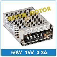 Small volume of 50W 15V switching power supply 86V-264V AC to DC 15V/3.3A Model MS-50-15