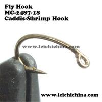 SIZE 18, 500 pieces 18 # fly fishing hooks fly tying hooks Caddis-Shrimp Fly Hooks Free shipping