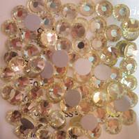 SS6(1.9mm) 1440pcs Glitter 3d Nail Art Rhinestones Glass Decorations Non Hot Fix Flatback DIY Nail Tools Crystal Jonquil 011