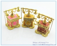 Wholesale antique telephone shape trinket box for wedding gift
