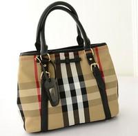 2014 Autumn new Korean fashion handbags retro handbag shoulder bag Plaid canvas handbags wholesale