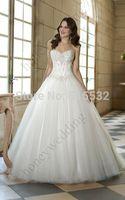 New White/Ivory Beading Wedding Dresses Ball Gowns Custom Size AL6724