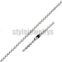 Free shipping! 4mm Ball Link Necklaces Stainless Steel Jewelry Fashion Biker Chain Necklaces SCH0002