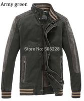 High quality Men's winter Jacket ,2014 casual cotton coat khaki, army green  9901