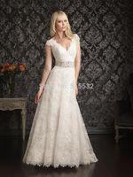 2014 New white/ivory Lace wedding dress custom size AL6728
