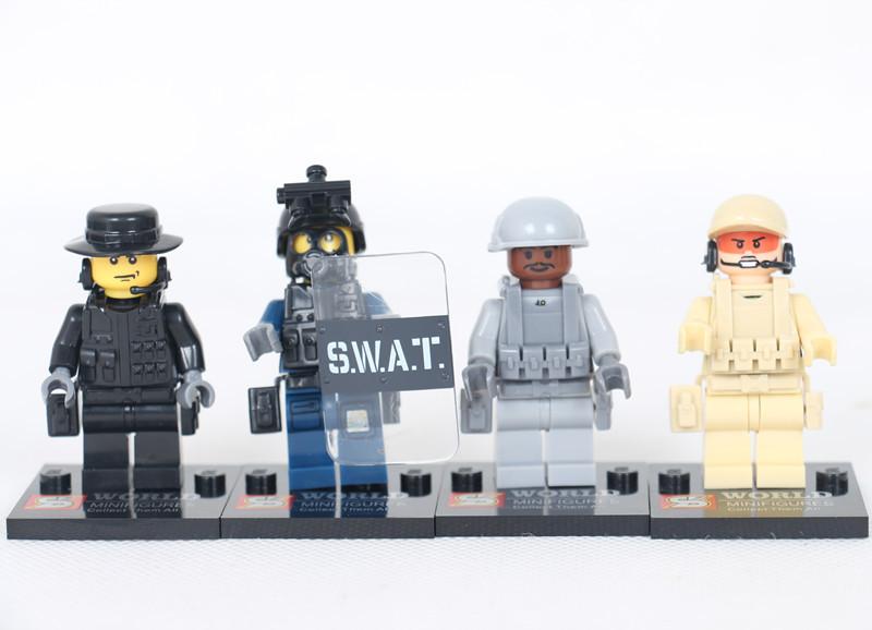 ... prueba policía bloques de construcción figuras de acción juguetes