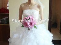 Wedding bride hands holding rose flower bridal bouquet flowers bride bouquets white/pink/champagne/mix color