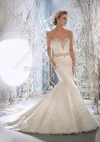 Hot White/ivory Lace Elegant Mermaid Sweetheart Wedding Dress Custom Size AL6729