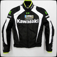 Latest KAWASAKI Men's Motorcycle riding jackets Racing clothing With removable cotton gall and protective gear best