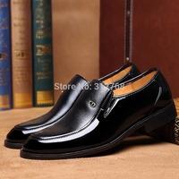 Brand New Business Men's Leather Shoes 2014 Autumn New Fashion Oxfords Shoes For Men Official Dress Shoes Black size 38 --44