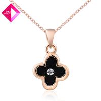 D&Z Rose Gold Black Clover Necklace Fashion necklace series