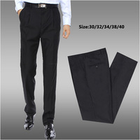 Free shipping new 2014 hot sale high quality new fashion casual men pants 100% cotton slim men trousers Black Drop shipping