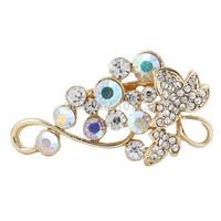 New Fashion Rose Gold Bouquet Grape Wedding Brooches For Women Men Crystal Rhinestone Brooch Pins free Shipping