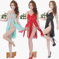 3 Colors Babydoll Lingerie  Cross Sleepdress Sexy Underwear For Women's  Sleepwear Wholesale Dropshipping US1734