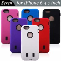 100pcs/lot Robot Silicone + PC Hybrid Plastic Hard Back Case For iPhone 6 4.7 inch, Free Shipping