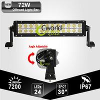 Epistar 72W Dual Row Offroad 13 Inch LED Work Light Bar For JEEP GMC TOYOTA 12V 24V ATV SUV Truck Trailer Boat