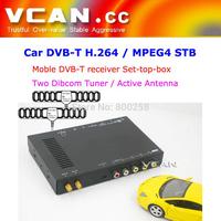 DVB-T7100 DVB-T7100 Car DVB-T digital tv receiver 2 antenna tuner TNT TDT mpeg4