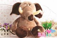 "Cartoon Jungle Elephant 25cm 9.8"" NICI Plush Toys Stuffed Animal Soft Doll High Quality For Baby Kids Gifts Free Shipping"