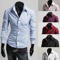 New 2014 Fall Winter Men Shirts Fashion Black And White Striped Decorative Men lapel Shirt Free Shipping Promotions