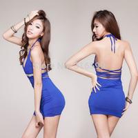 Nigh Club Sexy Women Dress Sexy Sleepwear Blue Hot  Lingeries Dress Sexy Underwear VS  Backless Wholesale Dropshipping US1736