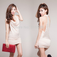 Free Shipping  Sexy Lingeries Women's  Sexy Sleepwear 2 Colors VS Underwear Backless Paillette Wholesale Dropshipping US1737