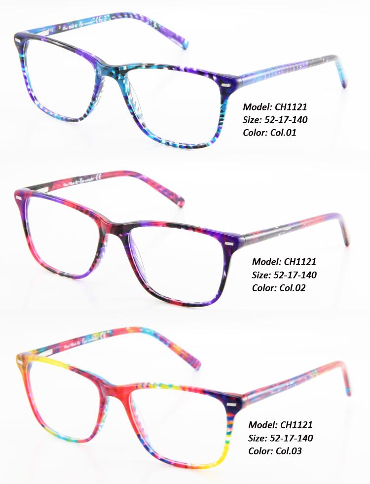 eye wonder fashion acetate designer glasses frames with flower pattern oculos de grau women lunettes occhiali brill eyes
