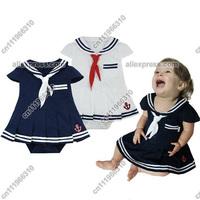 Baby Infant Kid Child Toddler Girl Navy Marine Sailor Grow Tutu Skirt Pettieskirt Romper Outfit Fancy Dress Costume Clothing Set