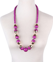 Statement Pearl Beads Long Necklace Women Multicolor Big Beaded Gold Collar Chain Necklace & Pendant Accessories Wholesale