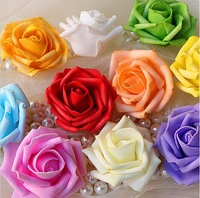 100Pcs/bag 5-6CM  Hot Sale Artificial Foam Roses For Home And Wedding Decoration Flower Heads Kissing Balls For Weddings PE