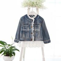 Kids new denim lace coats , jacket girls kids , 5pcs/lot   BHL08
