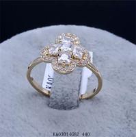 Free shipping+gift.Women's ring.18KGP & many rhinestone & cross shape & beautiful flower ring.White/rose/yellow, 3color optional
