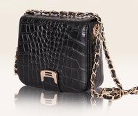 Guaranteed 2014 Ms. crocodile shoulder bag diagonal packet chain European and American fashion handbags famous brand designer