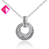 D&Z Platinum antiquity Austrian crystal necklace jewelry Fashion necklace series