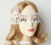 Women mask  photo decoration blue flower lace eye's band face veil party stuffs fashion wholesale white colors