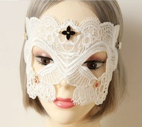 photo decoration blue flower lace eye's band face veil party stuffs fashion wholesale white colors women mask cos play face
