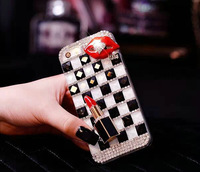 "C545 For iPhone 6 6G 4.7"" 5 5S 4S, Rhinestone Luxury Bling Lips Lipstick Diamond Hard back Case For Samsung S3 S4 S5 Note 2 3"