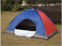 Outdoor tent Factory direct two 2 single layer waterproof UV camping tent ,190T Oxford cloth