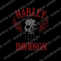 Free Shipping 50Pcs/Lot Hot Fix Skull Rhinestone Heat Transfers Custom Design Available For Shirts