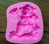 Design 383 Christmas Theme Bear Shape Silicone 3D Fondant Cake Mold,Cake Decoration Tool