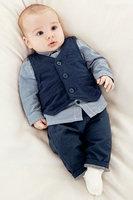 wholesale 5set/lot boy's clothes long sleeve shirt vest pants 3pcs set baby clothes,infant clothes