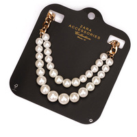 free shipping 2014 vintage Round Pearl Chain Necklace For Women Jewelry  140912