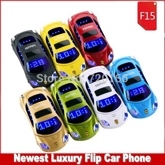 2014 newest Luxury flip Mobile phone Personality mini car model Cell Phones for kids flashlight Russian French Spanish Deutsch(China (Mainland))