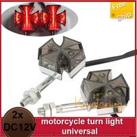 2x Universal Motorcycle Waterproof 12 LED Turn Signal Light  motorcycle turn light