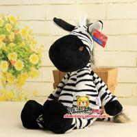 "Jungle Black Stripe Zebra 25 cm NICI Plush Toys Stuffed Animal Soft Doll 9.8"" Baby Kids Birthday Gifts Presents Free Shipping"